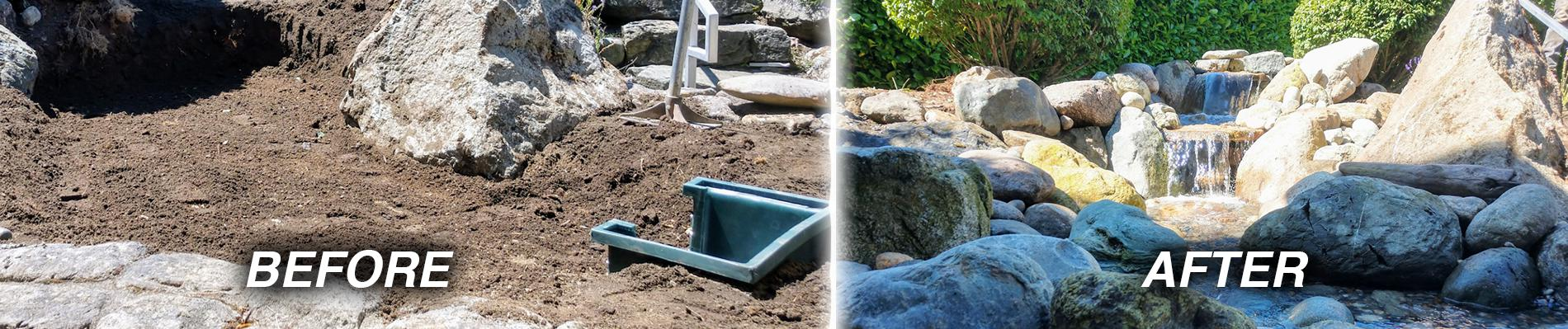 Installation and Pond Supplies in North Sound Area - Waterfall Pond Supply